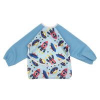 宝宝吃饭防水罩衣 宝宝吃饭围兜嘴婴儿食饭兜夏季防水柔软儿童小孩反穿罩衣长袖 均码