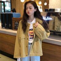 三木子快时尚女装~韩版宽松短款工装廓形短外套