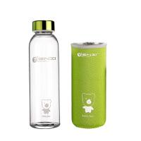 天喜(TIANXI)玻璃杯子卡通旅行运动水杯