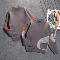 2019新款韩版儿童针织衫洋气圆领毛线衣男童秋冬款套头毛衣