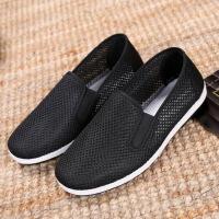老北京布鞋男冬季加绒单鞋工作布鞋休闲鞋一脚蹬棉鞋