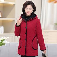 妈妈冬装棉衣外套40-50岁中老年人女装奶奶装加厚加绒棉袄60