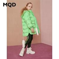 【折后券后�A估�r:355】MQD童�b女童中�L款加厚羽�q服2020冬�b新款�和�特殊工�羽�q外套