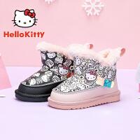 【3折�r:119.7元】HelloKitty�P蒂�女童雪地靴冬季�和�鞋子大棉加�q女孩棉靴子加厚保暖鞋 K0543967