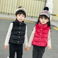 2018马甲男童女童宝宝儿童羽绒棉加厚金丝绒内外穿坎肩背心