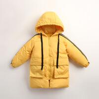 儿童羽绒服男中长款冬季新款韩版休闲白鸭绒女童装保暖外套