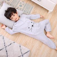儿童连体睡衣男孩女宝宝恐龙肚凉着凉护肚子卡通秋冬踢