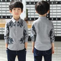 秋装新款韩版儿童春秋季打底衬衣男孩上衣潮童装男童长袖衬衫