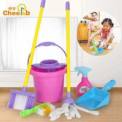 雄森 儿童过家家仿真清洁工具 拖把扫把垃圾铲水桶 角色扮演益智玩具益智玩具限时钜惠