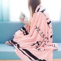 秋上新抖音同款毛毛毯搞怪创意个性潮流单人冬季被子床单黑色懒人欧美风王者荣耀绝地求生定制 150cmX200cm