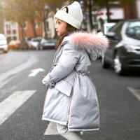 女童羽绒服中长款加厚中大童儿童装冬装新款韩版女孩反季