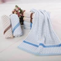 依明洁纯棉星点毛巾,纯棉提缎柔软吸水面巾S1328