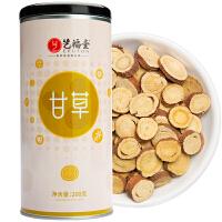 艺福堂花草茶 甘草 圆切片 精选优质甘草片/甘草片茶 200克/罐
