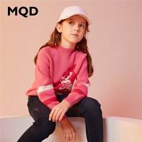 MQD童装女童加厚毛衣2019冬装新款儿童休闲针织衫