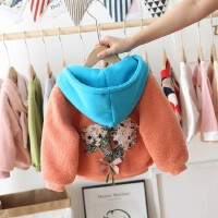 儿童女宝宝加绒冬装2019新款洋气开衫羊羔绒上衣女童秋冬装外套