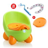 加大号儿童坐便器女宝宝座便器婴儿小孩小马桶 婴幼儿男便盆尿盆 二代 绿色(送坐垫+刷子+坐凳盖)