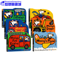 英文原版绘本 有趣的交通工具纸板书 Maisy小鼠波波系列0 3岁 6本套装Fire Engine/Race Car/Train/Digg 各种车辆 儿童工程车认知绘本汽车