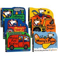 maisy小鼠波波原版英文绘本 有趣的交通工具纸板书 Maisy小鼠波波系列0 3岁 6本套装Fire Engine/
