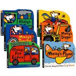 英文原版绘本 有趣的交通工具纸板书 Maisy小鼠波波系列0 3岁 6本套装Fire Engine/Race Car/