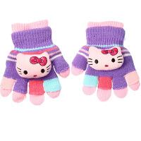 儿童手套保暖可爱冬季1-2男童女童加绒五指3岁小孩婴儿宝宝手套冬