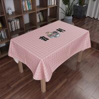 日系卡通餐桌布艺台布圆桌布长方形茶几布客厅书桌日式盖巾