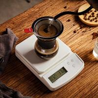 【好货】手冲咖啡专用电子秤厨房烘焙秤3kg0.1g电子称计时报警功能小型 白色