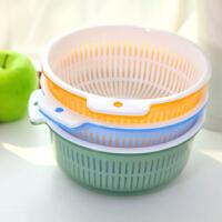 韩国家居日用无盖双层大号多用沥水洗菜篮沥水筛