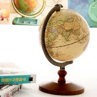 创意礼品 地球仪 木质摆件 zakka 美式家居 木制工艺品 模型