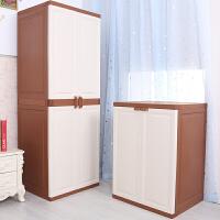 双开门简易衣柜多层收纳柜子组合塑料整理储物柜家居儿童宝宝衣柜