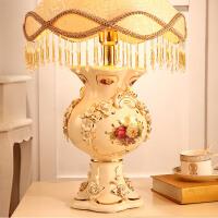 梵莎奇欧式台灯奢华卧室床头灯创意温馨复古陶瓷结婚台灯婚房灯饰