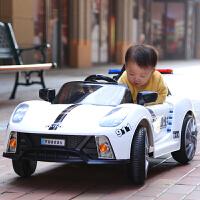 遥控警车可坐人儿童四轮电动汽车遥控摇摆小孩子1-3岁宝宝充电玩具车可坐人