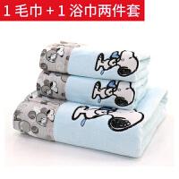 毛巾浴巾套装吸水洗澡巾男女情侣可爱卡通韩版浴袍沙滩浴巾