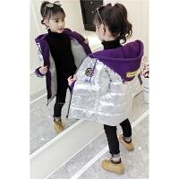 儿童中长款棉袄女童冬季加厚外套2019新款韩版中大童洋气棉衣