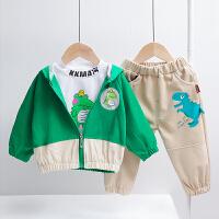 男童秋装套装帅气宝宝春秋小童洋气儿童三件套潮