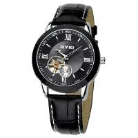 2018年新款 EYKI艾奇 商务时尚皮带表 镂空潮流表 机械表 男士手表 黑色 8622
