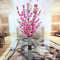 假花仿真花客厅落地干枝花束摆件桃花腊梅梅花绢花假树塑料装饰花