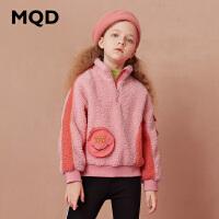 【折后券后�A估�r:150】MQD童�b女童加厚立�I�l衣2020冬�b仿羊羔�q工�b保暖��松�和��l衣