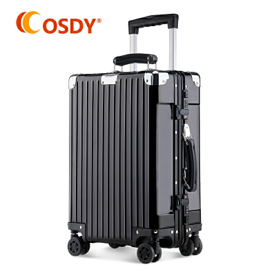 【全新升级铝镁合金】 OSDY纯金属拉杆箱铝镁合金旅行箱19寸登机箱铝镁合金材质,商务出行良品