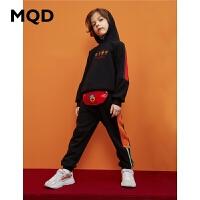 MQD童装男童针织裤加绒加厚2019冬季新款中大童韩版潮儿童运动裤