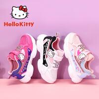 HelloKitty凯蒂猫童鞋春季新款时尚浪漫运动鞋舒适透气耐磨防滑休闲鞋K0513811