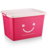 收纳箱塑料特大号衣服整理箱塑料家用衣物收纳盒有盖储物箱三件套