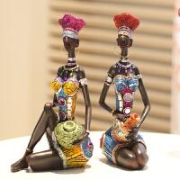 创意家居摆件装饰品特色人物摆设品客厅桌面工艺品非洲风格装饰品