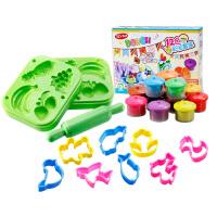 儿童3d彩泥橡皮泥水果空心印模粘土手工diy女孩模具工具套装