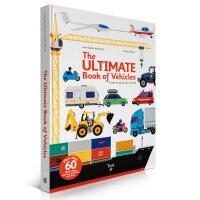The Ultimate Book of Vehicles 不同寻常的汽车 纸板操作书 大开本纸板书 翻翻书 幼儿启蒙认知英文原版读物