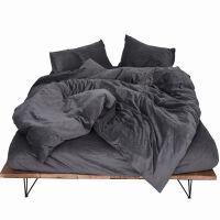 日式简约天鹅绒四件套珊瑚绒磨毛短绒加厚保暖秋冬床上用品定制