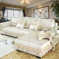 欧式提花沙发垫四季通用型布艺防滑贵妃沙发套全包�f能套巾罩定做 芳华 金色