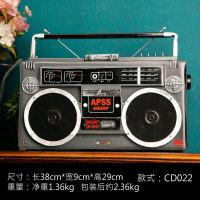 2019新品复古老式收音机工艺品工业风装饰品创意怀旧咖啡厅录音机家居摆件