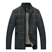 2017秋装新款男装中年男士外套 儒雅时尚休闲百搭成熟男士夹克