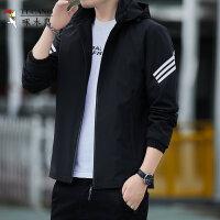 啄木鸟 长袖夹克男秋季2021年新款韩版潮流潮牌ins连帽运动外套休闲上衣39575