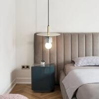 精美护眼时尚北欧后现代创意餐厅小吊灯艺术床头卧室设计师吊灯精美时尚吊灯 直径30*高25CM 图片色